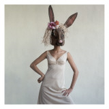 Vogue - February 1965 - Bunny Mask Regular Photographic Print by Gianni Penati