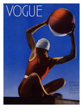 Vogue Cover - July 1932 - Red Beach Ball Premium Giclee Print by Edward Steichen