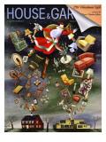 House & Garden Cover - December 1938 Regular Giclee Print by Constantin Alajalov