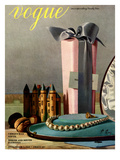 Vogue Cover - December 1937 Premium Giclee Print by Pierre Roy