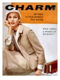 Charm Cover - February 1958 Premium Giclee Print by Carmen Schiavone