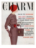 Charm Cover - August 1956 Premium Giclee Print by Louis Faurer
