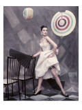 Vogue - May 1954 Regular Photographic Print by Henry Clarke