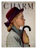 Charm Cover - October 1946 Premium Giclee Print by Hal Reiff
