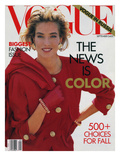 Vogue Cover - September 1990 Regular Giclee Print by Patrick Demarchelier