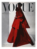Vogue Cover - November 1946 - Red Gown Regular Giclee Print by Horst P. Horst