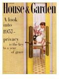House & Garden Cover - January 1957 Regular Giclee Print by John Stewart