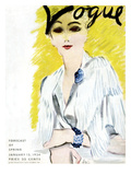 "Vogue Cover - January 1934 Premium Giclee Print by Carl ""Eric"" Erickson"