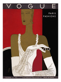 Vogue Cover - October 1931 Premium Giclee Print by Eduardo Garcia Benito