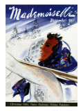 Mademoiselle Cover - December 1936 Regular Giclee Print by Jean Coquillot