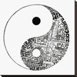 Yin Yang Stretched Canvas Print