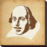 Shakespeare Stretched Canvas Print