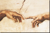 Erschaffung Adams (Ausschnitt) Leinwand von  Michelangelo Buonarroti