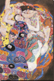 The Virgins Stretched Canvas Print by Gustav Klimt