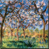 Printemps à Giverny Reproduction transférée sur toile par Claude Monet