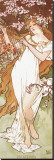 Spring Stretched Canvas Print by Alphonse Mucha