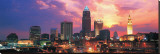 Cleveland Skyline at Sunrise Stretched Canvas Print