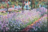 Claude Monet - Zahrada umělce v Giverny, c. 1900 Reprodukce na plátně