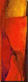 Triptychon Wassily Rot II|Triptych Red Wassily II Bedruckte aufgespannte Leinwand von Petro Mikelo