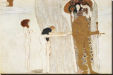 Desire of Happiness, Beethoven Frieze (detail), 1902 Stretched Canvas Print by Gustav Klimt