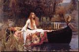 La dame de Shalott Reproduction transférée sur toile par John William Waterhouse