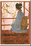 Madama Butterfly Stretched Canvas Print by Leopoldo Metlicovitz