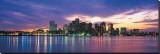 Boston Skyline at Sunrise Reproducción en lienzo de la lámina
