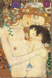 Äiti ja lapsi - Yksityiskohta maalauksesta Naisen kolme ikää (Mother and Child - detail from The Three Ages of Woman), noin 1905 Pingotettu canvasvedos tekijänä Gustav Klimt