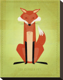 The Crooked Fox Stretched Canvas Print by John Golden