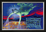 Exposition Internationale d'Electricite, Marseille Posters by David Dellepiane