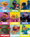 Sesame Street- Music Genres Posters