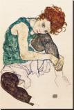 Die Frau des Künstlers Leinwand von Egon Schiele