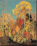 Höst i Orillia|Autumn in Orillia Sträckt Canvastryck av Franklin Carmichael