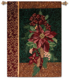 Winter Poinsettia Wall Tapestry