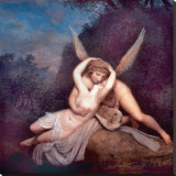 Cupid and Psyche Stretched Canvas Print by Antonio Canova