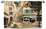 Cafe de La Place Nde Wall Tapestry