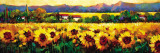Sweeping Fields of Sunflowers Print by Nancy O'toole
