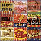 Snacks américains Affiches par Mark Andrew Allen