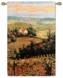 Golden Vineyard II Wall Tapestry