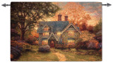 Gingerbread Cottage Wall Tapestry by Thomas Kinkade