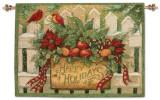 Happy Holiday Wall Tapestry