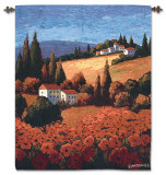 Tuscan Poppies Wall Tapestry