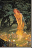 Midsummer Dream Stretched Canvas Print by Edward Robert Hughes