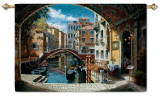 Archway To Venice Wall Tapestry