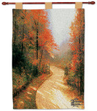 Autumn Lane Wall Tapestry by Thomas Kinkade