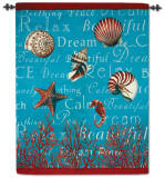 Turquoise Lagoon Wall Tapestry