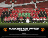 Manchester United-Team Photo 2011-2012 Prints