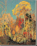 Autumn in Orillia Stretched Canvas Print by Franklin Carmichael