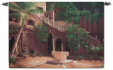 Wishing Well Courtyard Wall Tapestry
