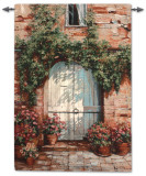 Wooden Doorway Wall Tapestry